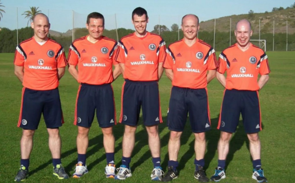 Left to Right: Anthony Cooper (3SARDev), Ryan Milne (1Dev), Andy Milne (3SAR), Mat Northcroft (1) and Alastair Mather (3SAR)